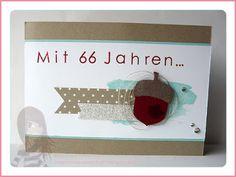 Stampin' Up! Rosa Mädchen Geburtstagskarte mit Eichel und Back to Basics Alphabet