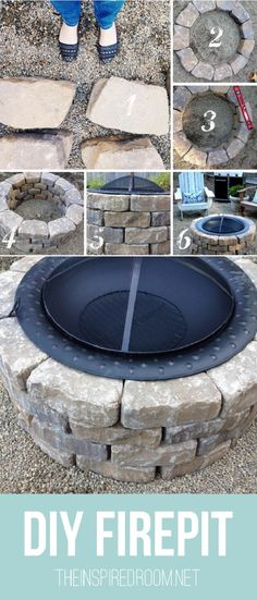 How to make a #DIY fire pit in your #backyard in 15 minutes. Great idea