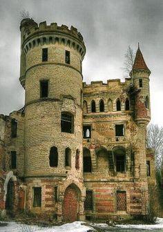 Abandoned Muromtsevo Castle in the Vladimir region of Russia.