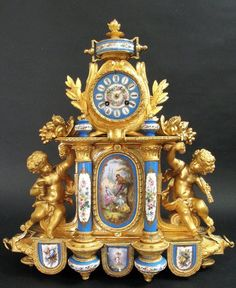 Monumental French Ph Mourey Figural Sevres Clock : Lot 76