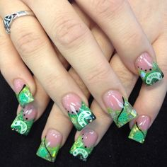 Happy St. Patti's Day! Nails by Lindsay at Shimmer!