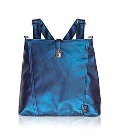 Vegan Ultra Violet blue Backpack and Messenger bag shoulder bag for woman lap top 13 - Leah by estelladesign on Etsy https://www.etsy.com/listing/113458235/vegan-ultra-violet-blue-backpack-and