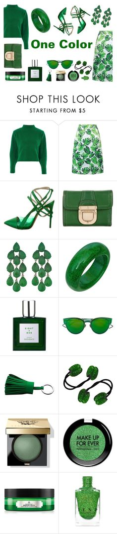 """""""One Color"""" by kmrichardson20 ❤ liked on Polyvore featuring Topshop, WithChic, Casadei, MICHAEL Michael Kors, Siman Tu, Eight & Bob, Christian Dior, Hermès, Bobbi Brown Cosmetics and MAKE UP FOR EVER"""
