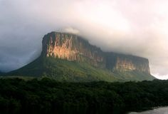 Parque Nacional Canaima (Canaima National Park), Venezuela -   The highlight of the sprawling 30,000 square kilometer (11,583 square mile) park located in southeastern Venezuela is undoubtedly Angel Falls, the highest waterfall in the world, but the park is also famous for its numerous waterfalls, peaceful lagoons, rushing rivers, rainforests, jungles, wildlife and the famous table-top mountains of the region known as tepuis. Canaima was designated as a UNESCO World Heritage site in 1994.