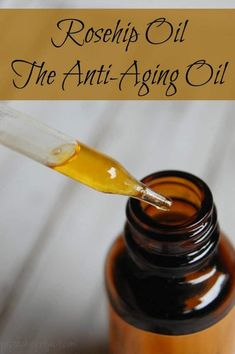 Rosehip Oil - The Anti-Aging Oil - Great moisturizer, Reduce wrinkles, Fade scars and age spots, Helps fight pre-mature aging, Can help treat eczema and psoriasis, Evens out skin tone! #rosehip #rosehipoil #antiaging #matureskin #wrinkles #greenbeauty
