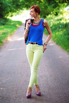 Neon & summer jewel colours by Not Dressed As Lamb, via Flickr