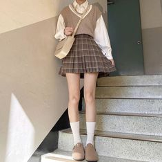 Teen Fashion Outfits, Mode Outfits, Fall Outfits, Fashion Skirts, Kawaii Fashion, Cute Fashion, Icon Fashion, Cute Casual Outfits, Pretty Outfits