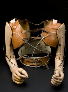 Upper limb prostheses, made for a 17 year-old boy in 1959