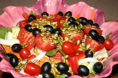 Mixed Greens Salad a la Toasted Pumpkin Seeds