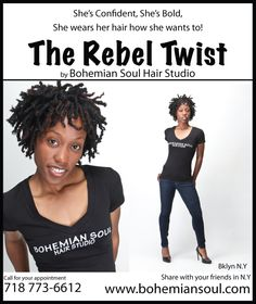The Rebel Twist Express Styles And Prices Natural Hair Salon In Brooklyn Ny Bohemian Soul Studio