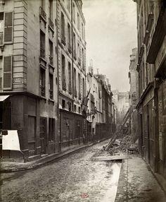Charles Marville : rue Volta, de la rue Borda, 1866