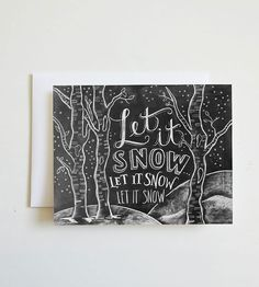 Let It Snow Holiday Chalkboard Card