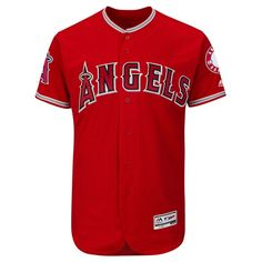 ... Los Angeles Angels of Anaheim Majestic Alternate Flex Base Authentic  Collection Team Jersey - Scarlet ... 90e6e8377