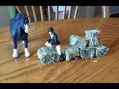 How to make Realistic Schleich Hay Bales. - YouTube