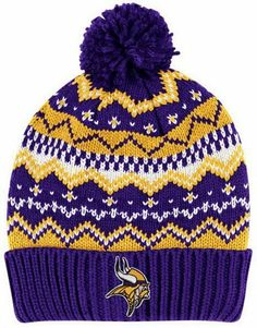 "MINNESOTA VIKINGS Alpine Pom Cuffed Knit Beanie Hat Ski Cap by Reebok SIZE: YOUTH by NFL. $12.99. Knit-in ""Alpine Pattern"" Style Beanie Hat; Great Looking Team Beanie - Item #532313714560 by Sellsolutions has mnay MINNESOTA VIKINGS Items For You.; Featuring a flat embroidered MINNESOTA VIKINGS logo on the cuff and a pom knit; Licensed by Reebok for the NFL - 100% Acrylic; Alpine Reebok Pom Cuffed Knit Hat. Reebok MINNESOTA VIKINGS Alpine Knit Beanie with Pom. Featuri..."