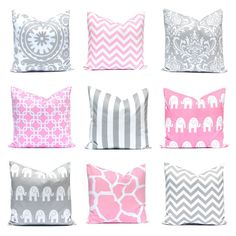 Hey, I found this really awesome Etsy listing at https://www.etsy.com/listing/190430448/baby-pink-pillow-gray-nursery-pillows