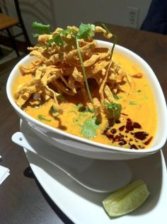 Khao Soi from Sukho Thai - the only place to go in Toronto for authentic and yummy Thai food.
