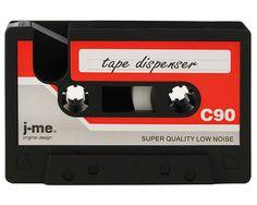 CASSETTE TAPE DISPENSER | 70s and 80s Cassettes Tapes Scotch Tape Dispenser For Desk, Fun, Rubber, Desk Accessory | UncommonGoods