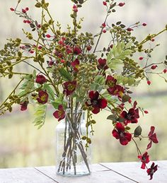 Use deep velvet dogwood spray for instant colour and texture, with seven deep red flower heads per branch. Shop out Christmas range today.