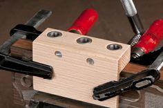 Classical Guitar Tuner Drilling Jig - JS Bogdanovich Guitars