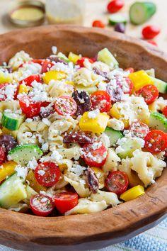 Mediterranean Tortellini Pasta Salad - very good, added chicken breast for fiance
