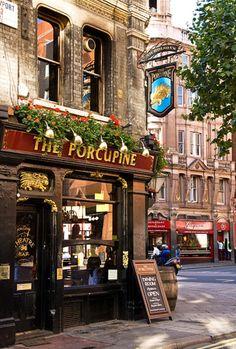 The Porcupine Pub - London, England Britain England And Scotland, England Uk, London Underground, British Pub, British Isles, Old Pub, Pub Signs, London Pubs, Pub Crawl