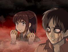 HAHAHAHAHAHHA Eren's face when he sees Shasha eating a potato inside the Titan's body XD