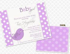 Baby Bird Shower - Purple