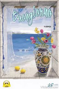images printemps - Page 2 Window Mural, Window View, Bay Window, Gif Animé, Morning Greeting, Beautiful Paintings, Belle Photo, Wall Murals, Good Morning
