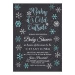 Baby its cold outside Snowflake Baby Shower Invite