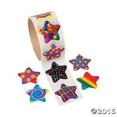 Funky Star Roll of Stickers