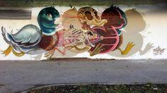 Dissected Duck. El nuevo mural de Nychos en Viena