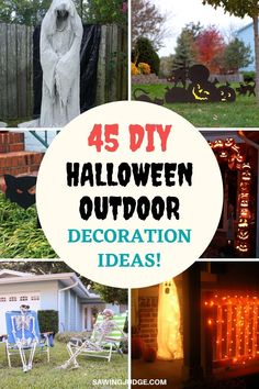 Halloween is just around the corner, and everybody is planning on unleashing their cutest and creepiest Halloween décor to trick their homes and make the entire neighborhood stop. Here are 45 best DIY outdoor Halloween decorations that you should try out. All of these decorations are easy to make, some of the projects also a little challenge and will make your Halloween holiday unforgettable. #halloween #diyhalloween #halloweendecorations #halloweendecor #halloweencrafts