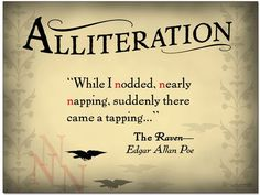 Alliteration - English Classroom Poster with Literary Quote