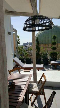 Athens Greece, Building Design, Patio, Outdoor Decor, Home Decor, Decoration Home, Terrace, Room Decor, Porch