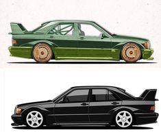 Mercedes 190 Evo, Cartoons, Vehicles, Cartoon, Cartoon Movies, Car, Comics And Cartoons, Comic Books, Animation Movies