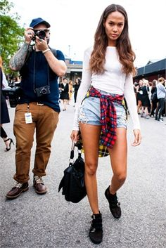 Model Looks - Joan Smalls at New York Fashion Week - Photographed by Adriano Cisani