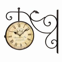round double sided wall hanging clock u0026 reviews wayfair