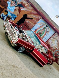 Nothing like a nice car along side guadalupe My Dream Car, Dream Cars, Arte Do Hip Hop, Lowrider Art, Old School Cars, Trucks And Girls, Sweet Cars, Car Shop, Chevrolet Impala