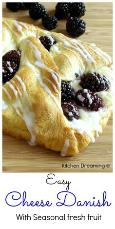 Quick and Easy Cheese Danish makes any morning feel special. This pastry is easy to prepare and can easily be adapted with different fruits and fillings.