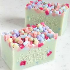Nice idea for a confetti soap #naturalsoapmakingideas