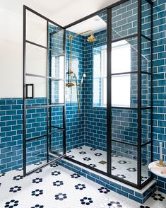 blue subway tile bat