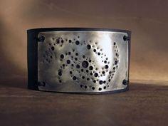 Universe Galaxy  Leather Cuff. $41.00, via Etsy.