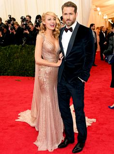 Ryan Reynolds and Blake Lively look gorgeous in Gucci at the 2014 Met Gala