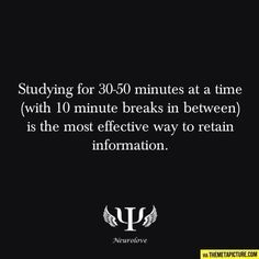 Yeah, but that would be the responsible way to study. I prefer to cram as much info in the ten mins before the test ;just sayin' Maximo rendimiento del estudio es estudiar minutos y descansa min The Meta Picture, Psychology Facts, Cognitive Psychology, Just Dream, Study Habits, Study Skills, School Hacks, School Tips, Study Motivation