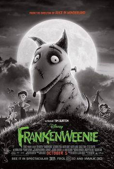 """Frankenweenie"" (2012). COUNTRY: United States. DIRECTOR: Tim Burton. SCREENWRITER: John August (Story: Tim Burton, Leonard Ripps). (B&W). CAST: Animation"