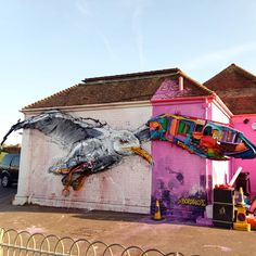 BORDALO II .. 'Half Seagull' .. [Brighton, UK 2018]