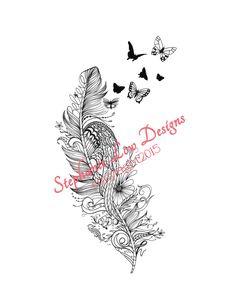 Custom Tattoo Illustration for Rachel Bold par StephanieLowCreative