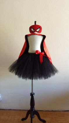 Spiderman Inspired Tutu with Cape and Mask