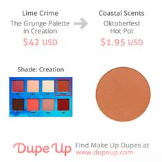 Lime Crime Creation shade dupe
